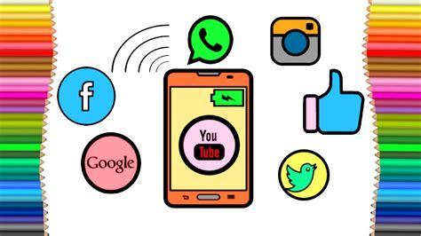 social media drawing  getdrawingscom