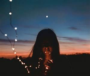 Girl, With, Fairy, Lights, Pictures