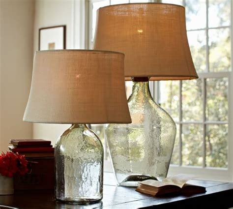 pottery barn lights clift glass table l base clear pottery barn