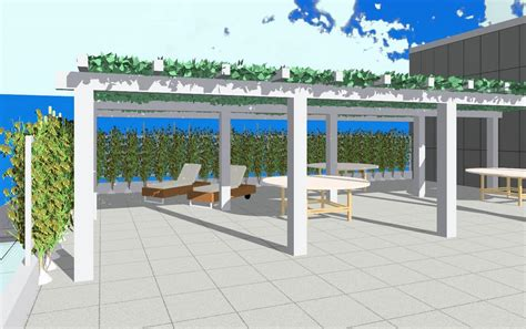 revitcitycom image gallery roof deck  trellis