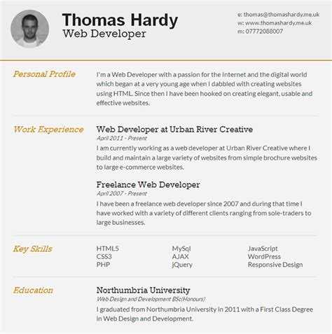 Html5 Resume Website by 35 Free High Quality Html5 Responsive Website Templates