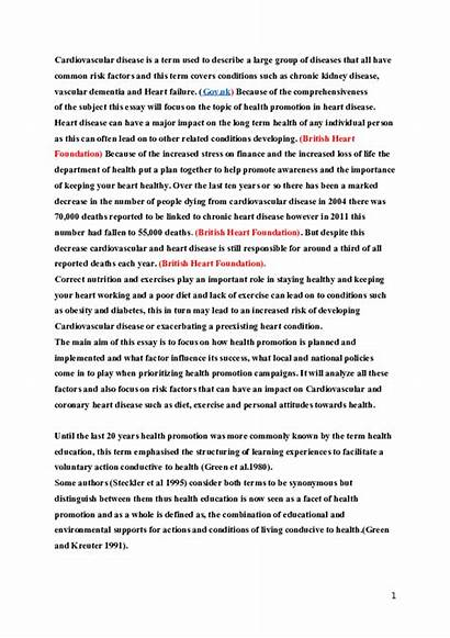 Essay Health Importance Awareness Disease Heart Mental