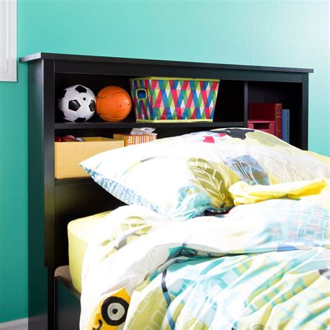 Size Bookcase Headboard Plans by South Shore Vito Size Bookcase Headboard In