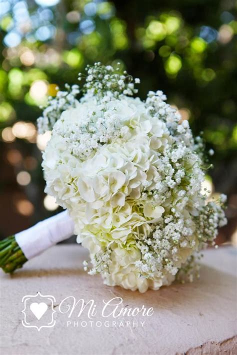hydrangea bouquets hydrangea and baby breath baby s breath and hydrangea bouquet wedding ideas bouquets
