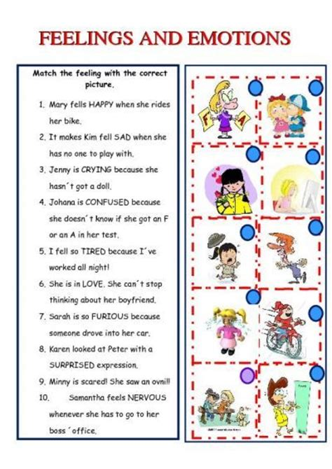feelings and emotions worksheet islcollective free