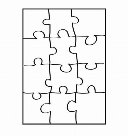 Puzzle Template Piece Pieces Templates Crafts