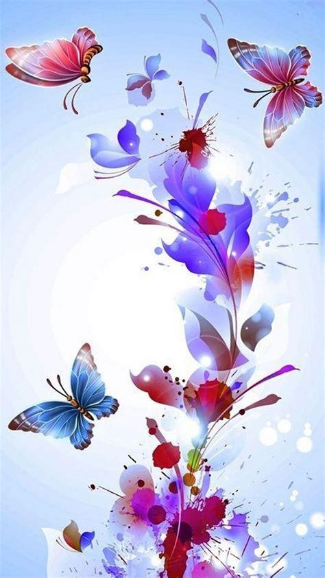 Flower hd phone wallpapers download free background images collection, high quality beautiful flowers wallpaper for your mobile phone. Pink Butterfly Wallpaper iPhone   2020 3D iPhone Wallpaper