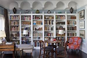 Living room bookcases eclectic living room san for Bookshelves for living room