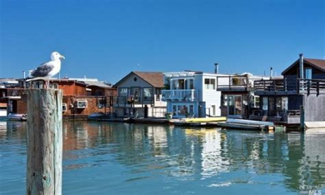 Boat House By The Bay by Living On The Dock Of The Bay In Sausalito Houseboat