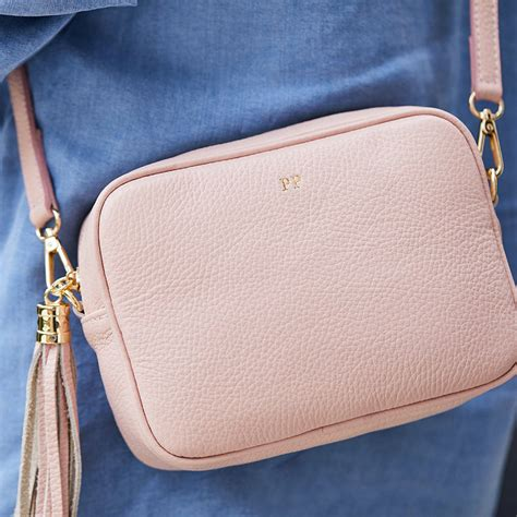 leather personalised cross body bag  lrm goods notonthehighstreetcom