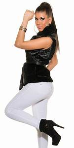 Veste Sans Manche Femme Fourrure : veste tendance sans manche fausse fourrure noir ~ Melissatoandfro.com Idées de Décoration