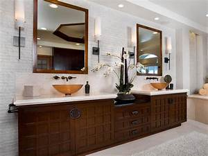 asian inspired contemporary bathroom christopher grubb With spa style bathroom vanity