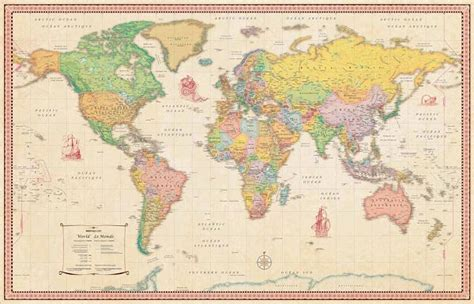 234 best images about carte du monde on poster world map mural and travel maps