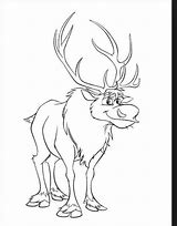 High quality images for sven reindeer coloring page ...