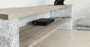 Tv Panel Selber Bauen : betonbl cke f r tolle diy m bel tv schrank selber bauen ~ Lizthompson.info Haus und Dekorationen
