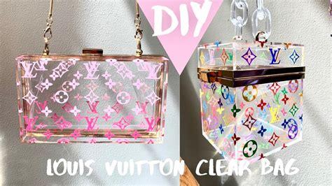 diy louis vuitton clear bag lv multicolor print inspired cricut project atannwynn