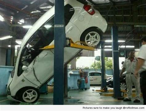 15 Epic Car Hoist Fails. #4 Is Brutal