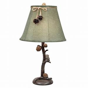 pinecone perch table lamp With perch table lamp yellow