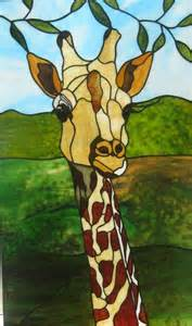 Stained Glass Giraffe