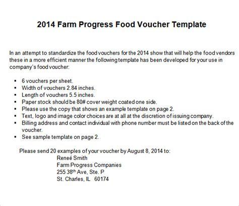 sample food voucher templates psd ai word