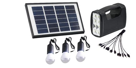 5w dc portable solar home lighting system solar generator