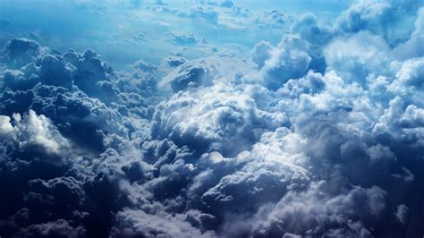 Nature, Landscape, Clouds, Bird's Eye View, Blue, Sky