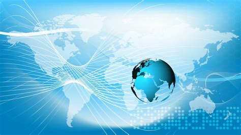 Animated Globe Wallpaper - blue earth technology business and communications