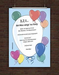 Einladung Kindergeburtstag Selbst Gestalten : drucke selbst kostenlose einladung geburtstagsparty mit ballons ~ Markanthonyermac.com Haus und Dekorationen