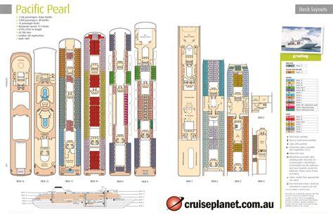 pearl cruise ship deck plans woodwork cabin plan pacific pearl pdf plans