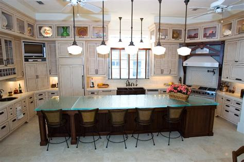 Glass Tops For Cool And Unusual Kitchen Designs From