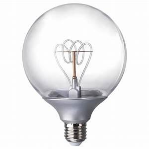 Ampoule Filament Ikea : nittio led bulb e27 20 lumen globe silver colour 120 mm ikea ~ Preciouscoupons.com Idées de Décoration
