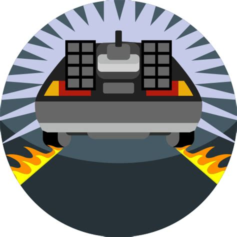 back to the future clipart delorean vector clipart best New
