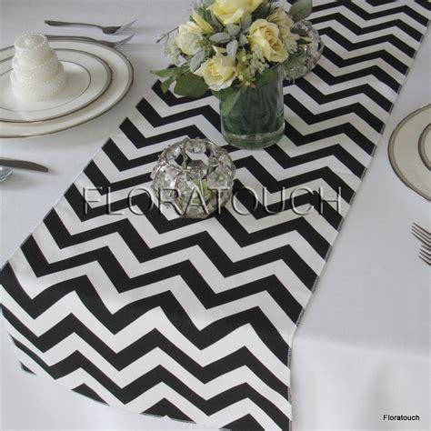 black and white table runners white and black chevron table runner zigzag wedding table