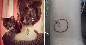 Tatouage Minimaliste : 15 tatouages minimalistes qui vont plaire aux fans de chats ~ Melissatoandfro.com Idées de Décoration