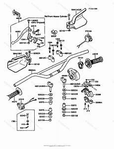 Kawasaki Motorcycle 1986 Oem Parts Diagram For Handlebar