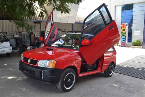 Modify Car Roof by Modified Maruti 800 With Scissor Doors Shifting Gears
