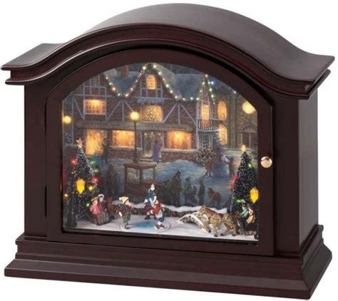 illuminated  animated mantel  box christmas