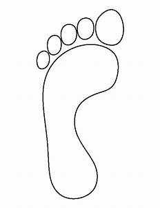footprints coloring pages coloring home With footprint cut out template