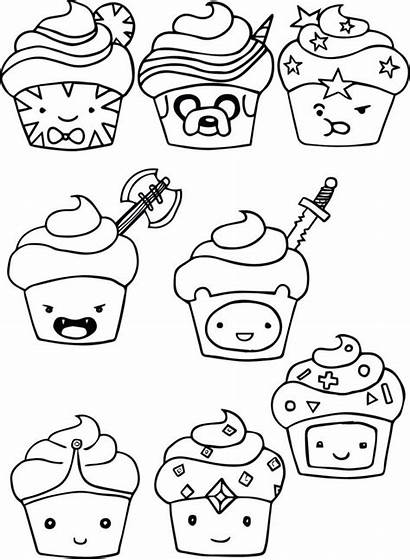 Coloring Cartoon Pages Adventure Cupcake Books Bestcoloringpagesforkids