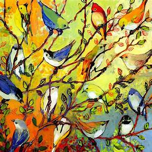 Modern Nature Art 16 Birds Fine Art Print by