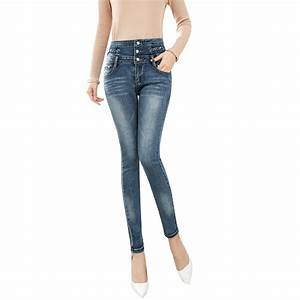 Jeans 2017 New Women High Waist Stretch Tight Cowboy Long ...