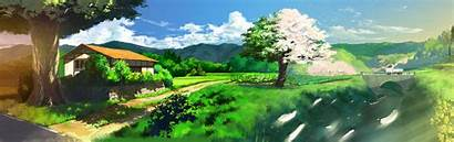 Dual Monitor Anime Screen Background Wallpapers Scenery