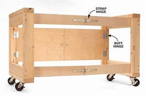 AWESOME Folding Table Base for Your Shop - Woodwork City