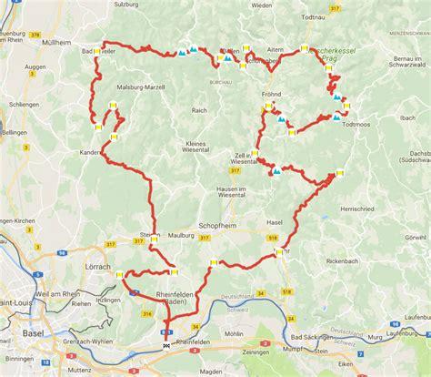 Motorradtouren Schwarzwald Karte