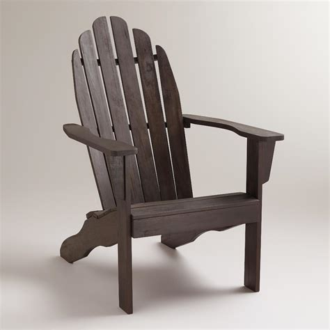 espresso classic adirondack chair world market
