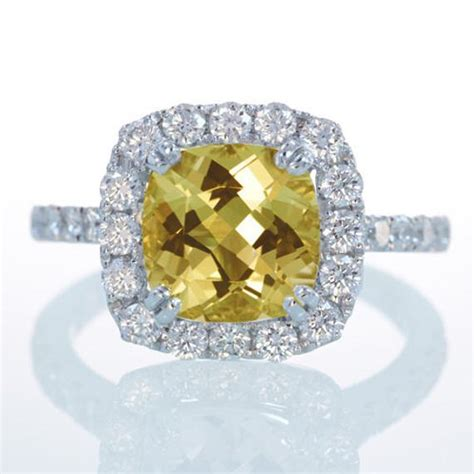 white gold heliodore yellow beryl diamond halo cathedral
