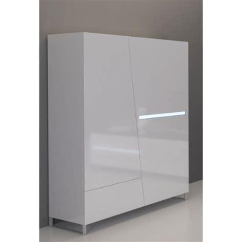 meuble haut blanc laque meuble haut laqu 233 blanc 120 cm 3 portes 1 tiroir cooper mooviin