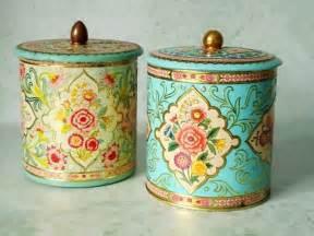 vintage kitchen canisters sets vintage floral tin storage canisters vintage canisters
