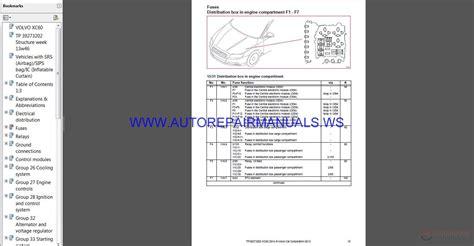 volvo xc   wiring diagram auto repair manual