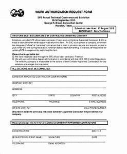 sample work authorization form 10 free documents in pdf With documents that establish employment authorization